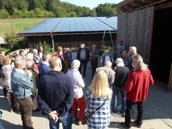 Besuch der Holzhackschnitzel-Zentralheizung Kilianshof Rhön.